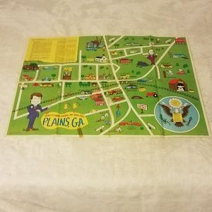 Vintage Jimmy Carter Inaugral Commemorative Map